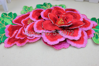 stereo embroidery computer embroidery / Applique pyrographic peony show stage clothing(China (Mainland))
