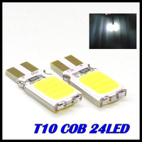 2pcs/lot x T10 194 168 W5W 24led t10 cob led white 5W High Power LED Car Door Lamps Indicator Light Reading Light  Bulbs White
