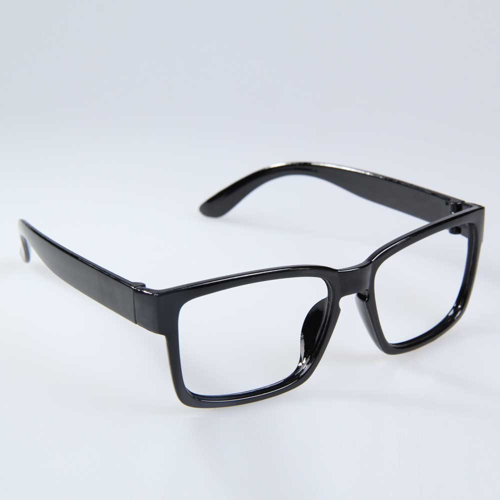 Chic Unisex Glasses Frame Hipsters Decorative Eyeglass Frames Bright Black