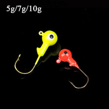 Buy Hot sale 50pcs/lot 5g 7g 10g round fishing jigging lure lead head fishing bait fish hook high fishing tackle for $11.63 in AliExpress store