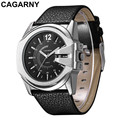relogio masculino CAGARNY Luxury Brand Leather Band Watches Analog Display Date Men s Quartz Watch Business