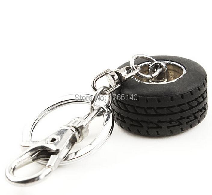 Creative Auto Parts Model Thicker Wheel Tyre Tire Keychain Key Chain Ring Keyring Keyfob(China (Mainland))