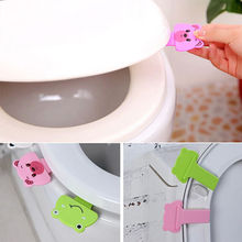 Vorkin Hot Sale Creative cute cartoon portable toilets lid handle Uncovery flip lid Toilet cover lifter Free Shipping(China (Mainland))