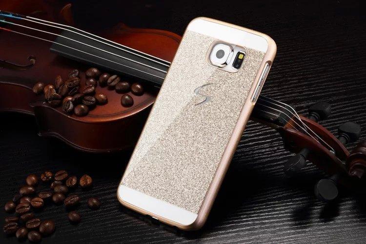 Здесь можно купить  50pcs Luxury Bling Glitter Skin Glam Case For samsung s6 edge Plastic Back Cover celular Fundas Capa Para coque phone cases  Телефоны и Телекоммуникации