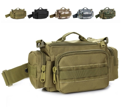 Men Women camouflage outdoor ride pockets 3p multi-purpose messenger bag tactical sports waist packs Military shoulder - eBags CHINA store
