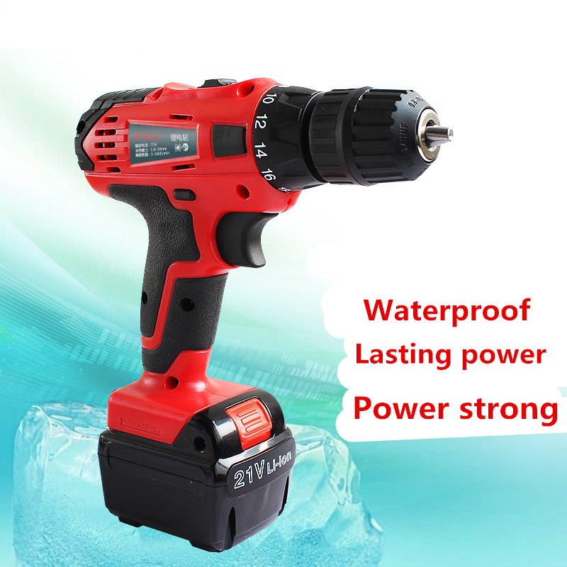 21V Electric Drill Household Multi-function Electric Screwdriver Double Speed Lithium Cordless Drill Power Tools(China (Mainland))