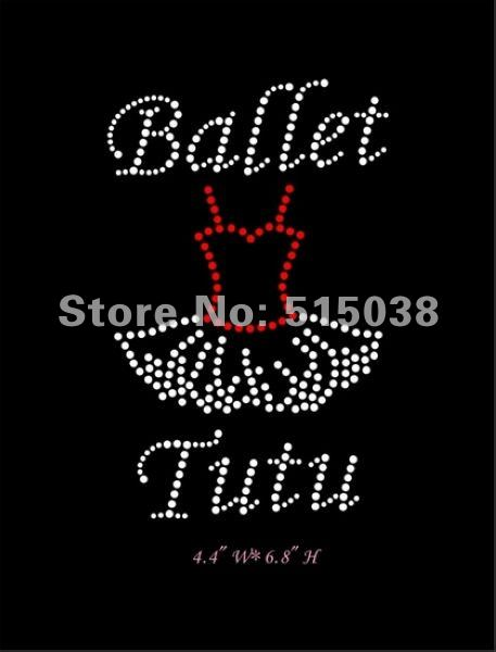 Free Shipping 50pcs/Lot rhinestone iron on transfers Ballet Tutu design,MOQ(30pcs) &custom design is welcome(China (Mainland))