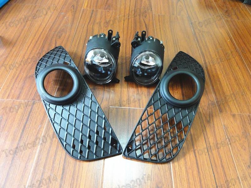 Здесь можно купить  1Set Front Fog Driving Lamps Kit With Covers For Mitsubishi Lancer CJ 2007.9-12 YEAR Bunper Lights  Автомобили и Мотоциклы