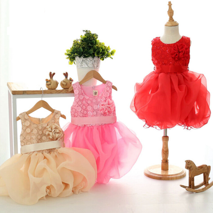 Girl tutu dress for wedding party Summer girls princess dress 2015 lace sleeveless cute floral evening dress for girls promotion(China (Mainland))