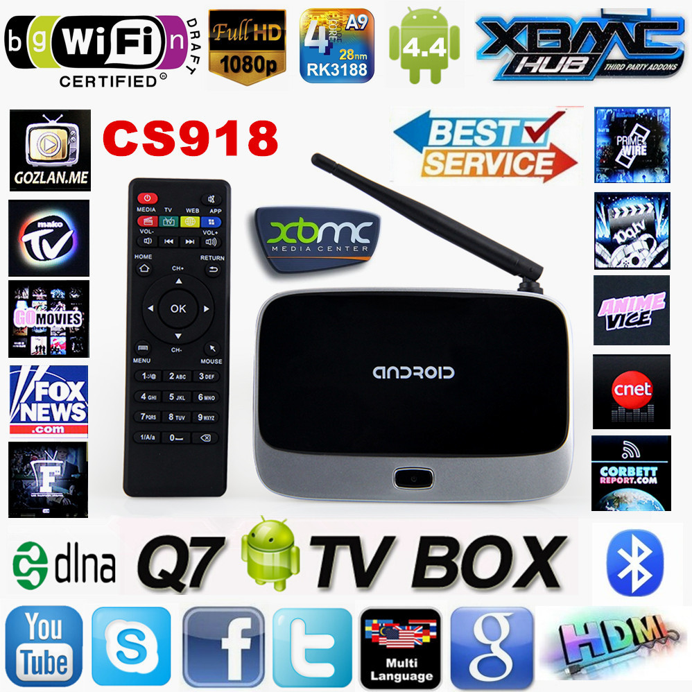 Original CS918 Android 4.4 TV BOX MK888 XBMC Fully Loaded RK3188 Quad core 1G/ 8G Smart TV Media Player Bluetooth WiFi Antenna(China (Mainland))