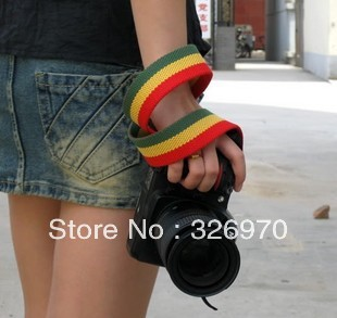 GOTO LC-041 camera strap red-yellow-green stripes and thicker popular choice FOR canon nikon sony(China (Mainland))