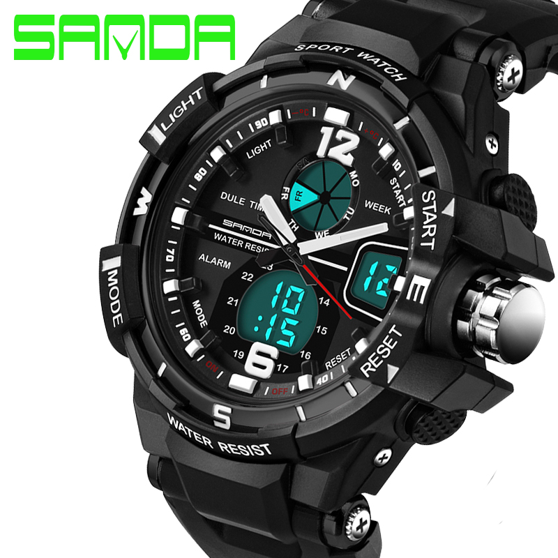 2016 Hot Brand Sports Watch Men Soft Silicone Watchband Shockproof Waterproof Relogio Masculino Electronic Digital Watch(China (Mainland))