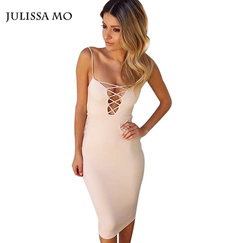 2016 Vestidos Sexy Summer Women Dresses Backless Deep V-neck Fashion Evening Party Bodycon Dress Night Club Cross Bandage Dress(China (Mainland))