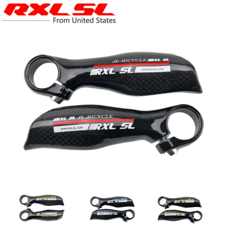 Bicycle Bar Ends Carbon Bike Bar Ends Small Auxiliary Handlebar RXL SL MTB/Road Bicycle Accessories Parts 3K Glossy Ultra light