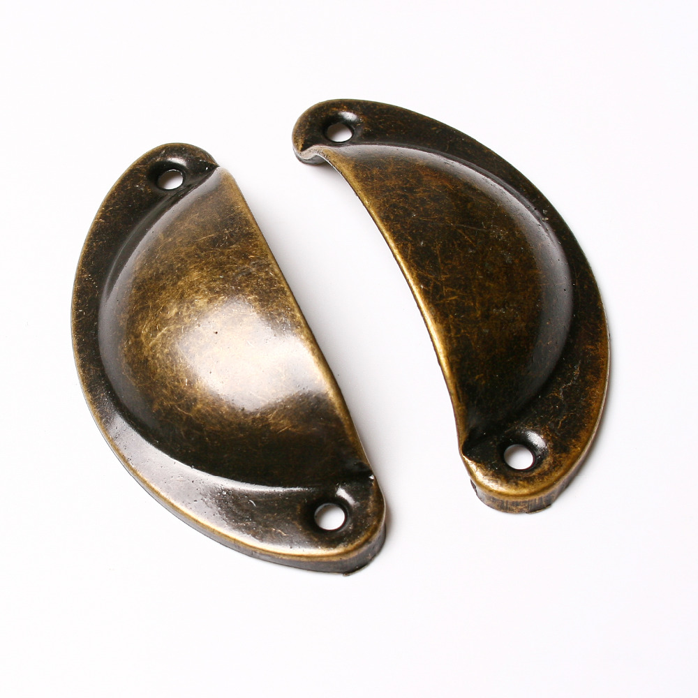 10pcs/lot Kitchen Cupboard Door Cabinet Cup Drawer Furniture Antique Shell Pull Handle Knob(China (Mainland))