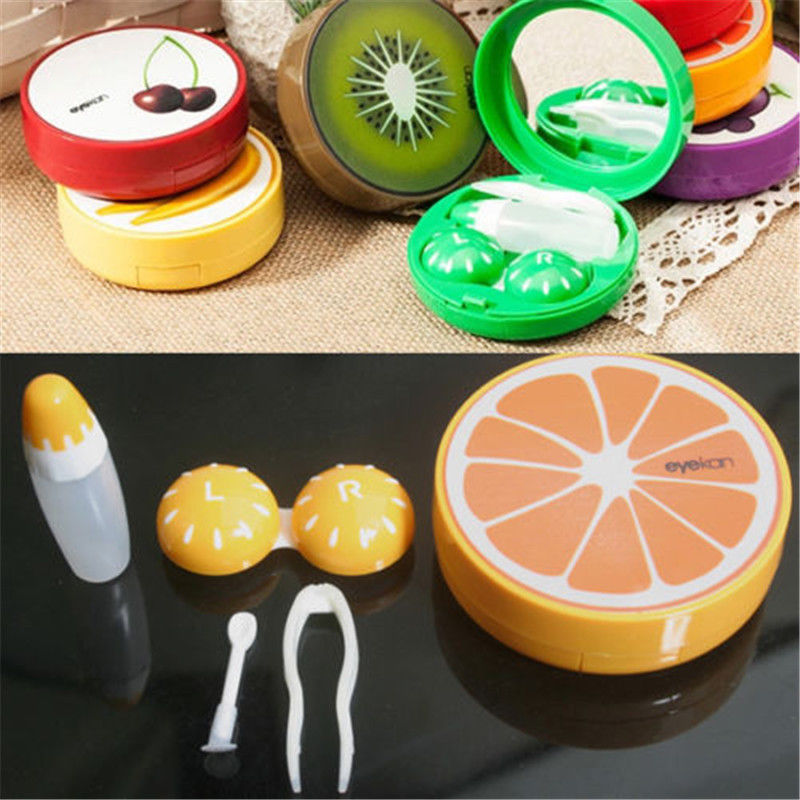 Lovely Travel Pocket Soak Storage Contact Lens Case Box Holder Container Fruit Style