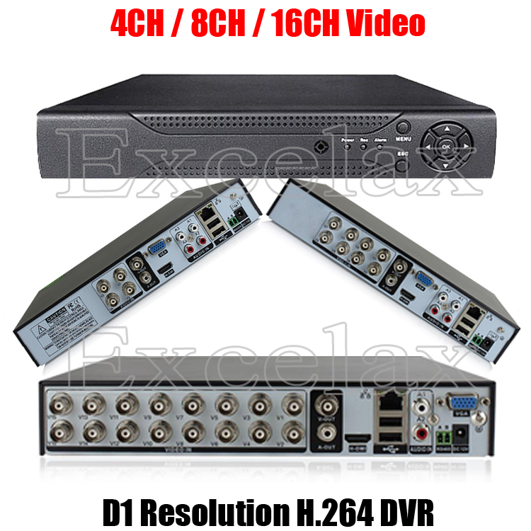 4/8/16CH D1 Resolution H.264 Standalone DVR 4/8-Channel Digital Video Recorder w/ HDMI RCA Port P2P Cloud for Analog CCTV Camera(China (Mainland))