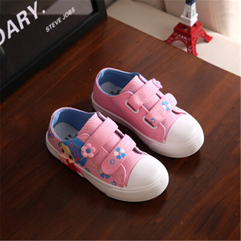 New arrival canvas shoes for girls high quality fashion kids sneakers casual soft children shoes(China (Mainland))