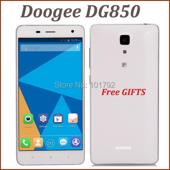 New arrival Doogee Hitman DG850 MTK6582 Quad Core Android4.4 Mobile Phone 5 Inch IPS 1280X720 1GB+16GB ROM 13MP 3G GPS+6 GIFTS