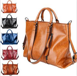 Fashion Vintage Brand Oil Wax leather Cowhide Motorcycle Bags For Women Handbag Shoulder Messenger Bag Ladies Satchel Tote Bag  <br><br>Aliexpress