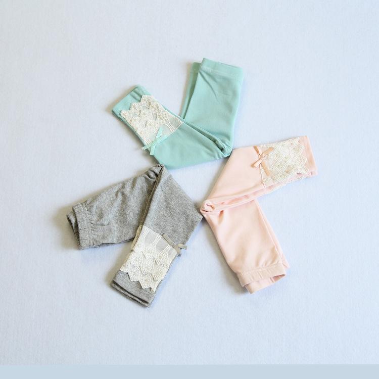 Idea2015 Autumn Baby Infant Girls Cotton Leggings Newborns Bebes Lace Long Pants 10 Colors<br><br>Aliexpress