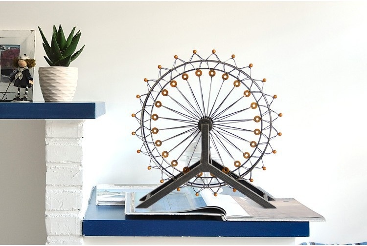 Free shipping European style antique metal craft iron windmill handicraft Ferris wheel wedding gift home decoration