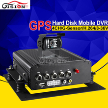 Vehicle Security System HDD 4CH Mobile DVR With GPS For Truck Bus Monitoring Record GPS Track Rear View Camera Car Mdvr Kit(China (Mainland))