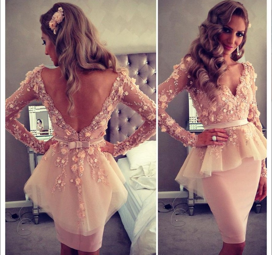 Online Buy Wholesale short prom dresses for teens long from China ...