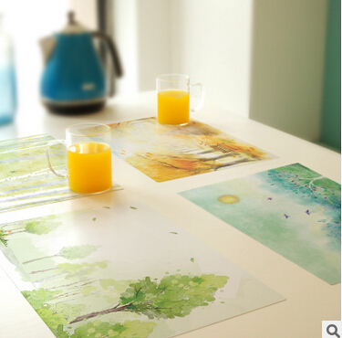 Free Shipping Creative fyy3 custom-made PVC Coaster Placemat waterproof table mat Non-Slip Table Setting Placemat,(China (Mainland))