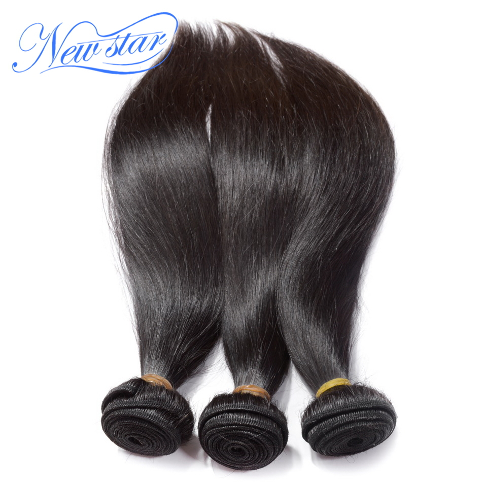 new star hair products 3 full bundles lot brazilian virgin human hair straight ,100% Unprocessed human hair with cuticle intact(China (Mainland))