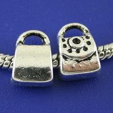 28pcs Tibetan silver 2sided handbag design bail bead fit bracelet h1415(China (Mainland))