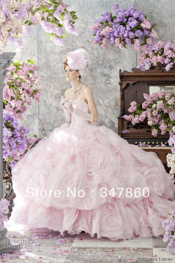 Pink Wedding Dress Dream Meaning : Free dream pretty romantic wedding dresses stella de libero pale pink