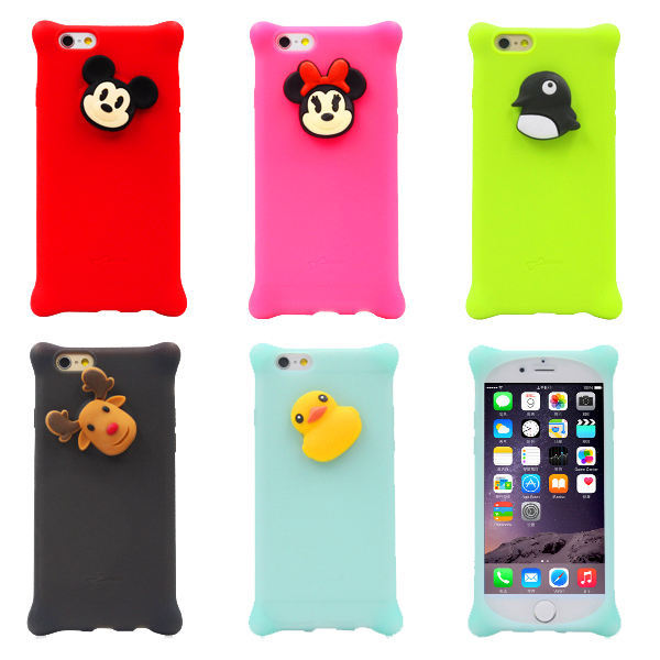 cartoon case For iPhone 6 6G case animal beer/cat/Duck/Penguin pattern For iphone 6 4.7 PC mobile phone Cases SJK0482(China (Mainland))