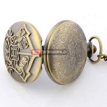 Vintage Harry Potter Quartz Pocket Watch Men Women Love Pendant Wholesale Price Steampunk Necklace Best Gift