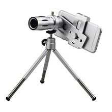 Buy HD 12x Optical Zoom Telephoto Lens Telescope Clip Tripod Holder Bluetooth Remote Control Shutter Camera Lentes iPhone for $20.65 in AliExpress store