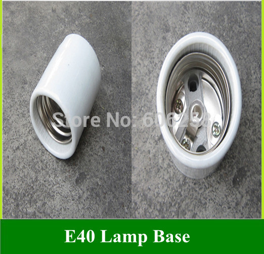 Lighting Accessories E40 Ceramic Lamp Base Street / photography Bulbs Light Holder Socket 100PCS(China (Mainland))