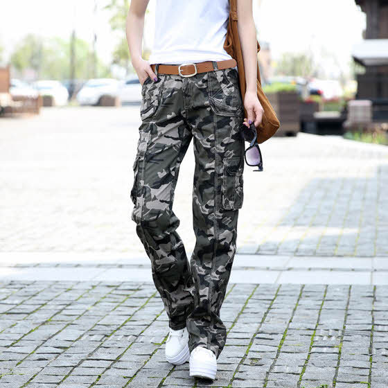 HAA-15 Spring Summer 2015 Women camouflage pants Casual Female Fashion Outdoor Sports Hip hop baggy Cargo pants women Military(China (Mainland))