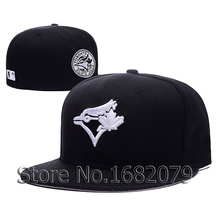 2016 new arrival Men's Toronto Blue Jays sport team cap C-Dub Patch black baseball fitted hats(China (Mainland))