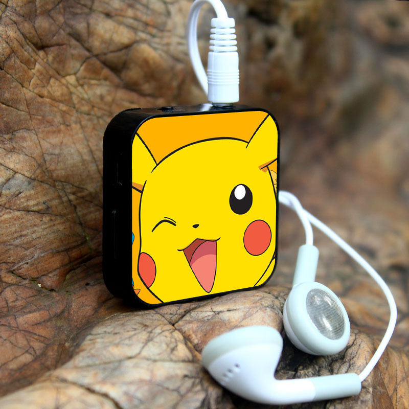 2016 New Design For Pokemons Go Mini MP3 With Earphone Support Flash TF Card Cute Music MP3 Player Hot Sale Wholesale(China (Mainland))