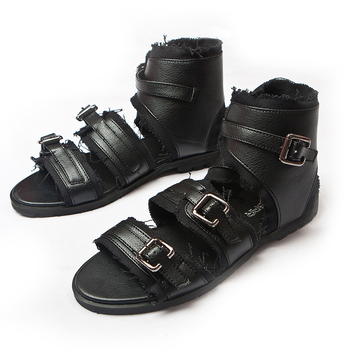 The trend of summer sandals male sandals fashion open toe sandals male sandals edging male