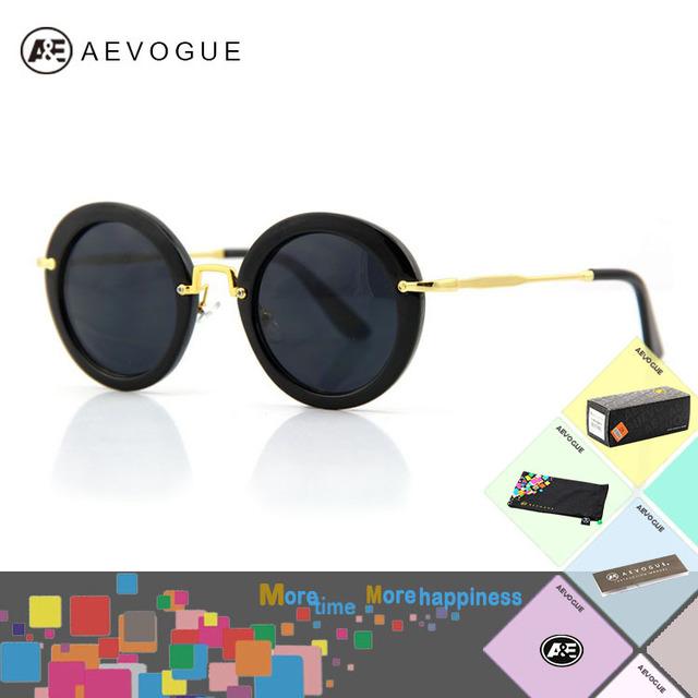 Aevouge с чехол марка круг рама sol солнечные очки женщины A разнообразие цветов очки CE AE0127