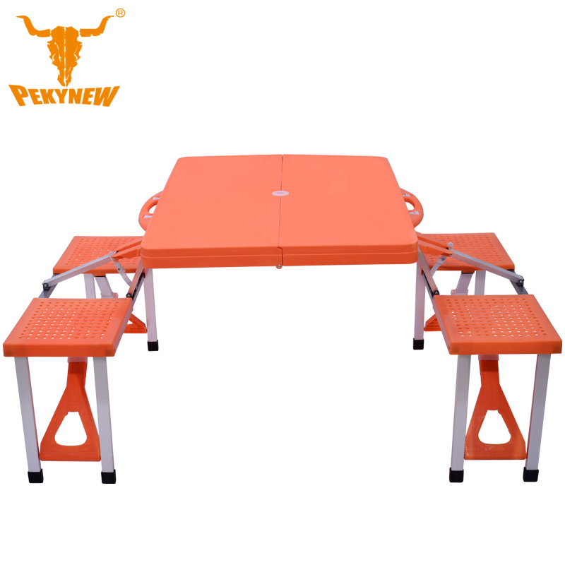 Environmental hard plastic piece folding tables and chairs Portable Folding Table Desk Furniture Outdoor Picnic(China (Mainland))