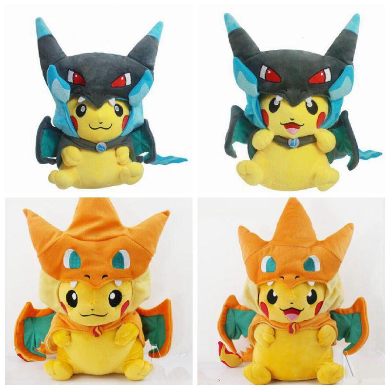 Animals 4 styles Pokemon Pikachu Cosplay Charmander Plush Toys 25-35CM Pokemon Toys Plush Stuffed kids toys Pokemon Plush Doll(China (Mainland))