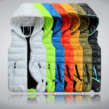 Autumn Winter Casual Hooded Vest Men High Quality Cotton-padded Chaleco Hombre Spring Comfortable Couples Sleeveless Jacket(China (Mainland))
