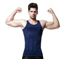 Hot Selling men bodysuit waist training corset for men Sport Vest Top waist trainer waist cincher sauna suit hot shaper body(China (Mainland))