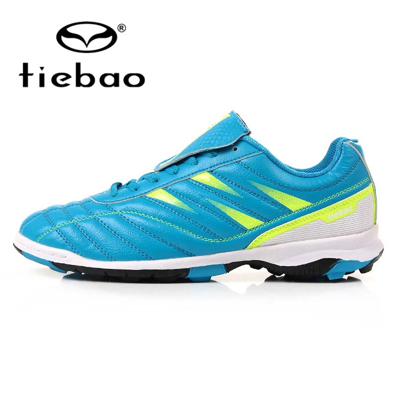TIEBAO Brand Men Football Shoes Unisex Soccer Boot for Teenagers Adult Women TF Turf Rubber Sole Shoes zapatos de futbol(China (Mainland))