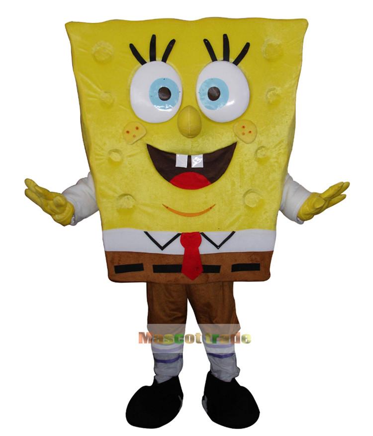 Spongebob Costumes Sponge bob Mascot Costume Fancy Halloween Carnival - trade store