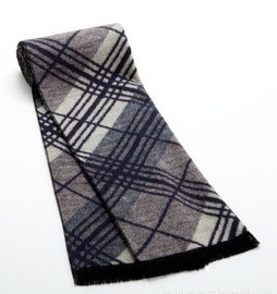 Top quality of Men winter scarf classic plaid pattern of men daily or business scarves(China (Mainland))