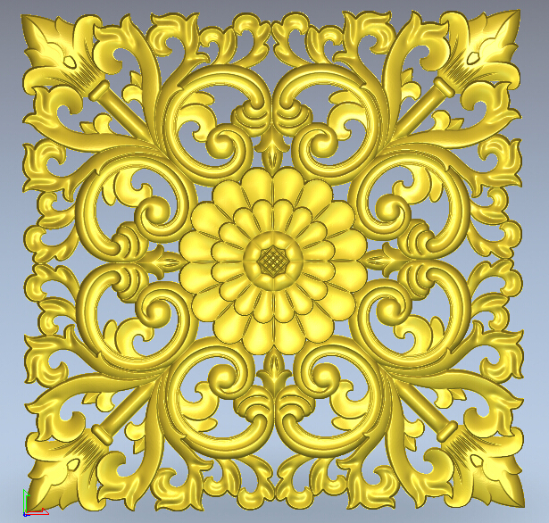 Door flower designs cnc 3d stl model files used artcam 006 - CNC Models Store store