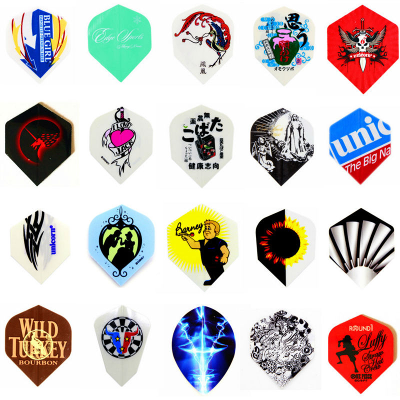 HJ-60 pcs/1 set Darts Flights Anime Flights High quality 20 kinds Different patterns flight New Good  Free Shipping<br><br>Aliexpress